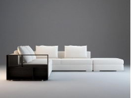Modular fabric sectional sofa 3d model