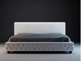 Modern bed set 3d model