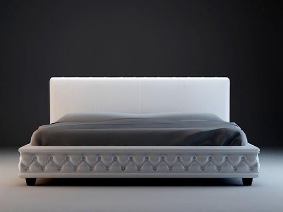 Modern bed set 3d model 3dsmax 3ds files free download modeling