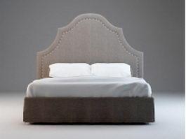 Vintage style bed set 3d model
