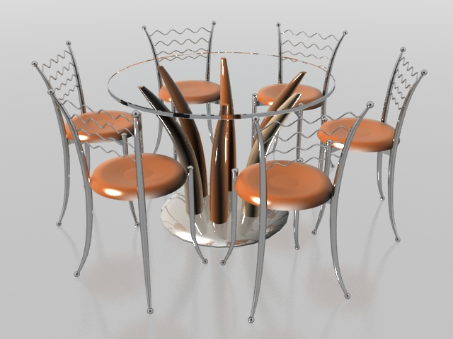 90 OFF  Round Glass and Metal Dining Set  Tables