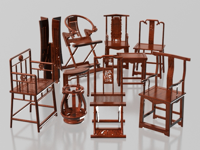 Charmant Collection Of Chinese Traditional Chair 3d Model