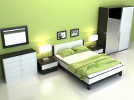Modern bedroom sets 3d model