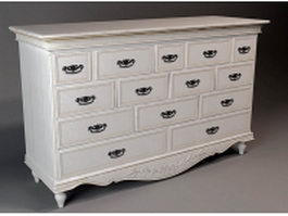 Classic French Chest of drawer 3d model