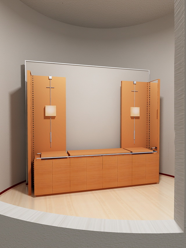 Office display cases 3d model 3dsmax files free download