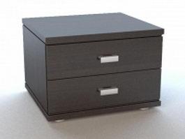 Modern bedside table 3d model