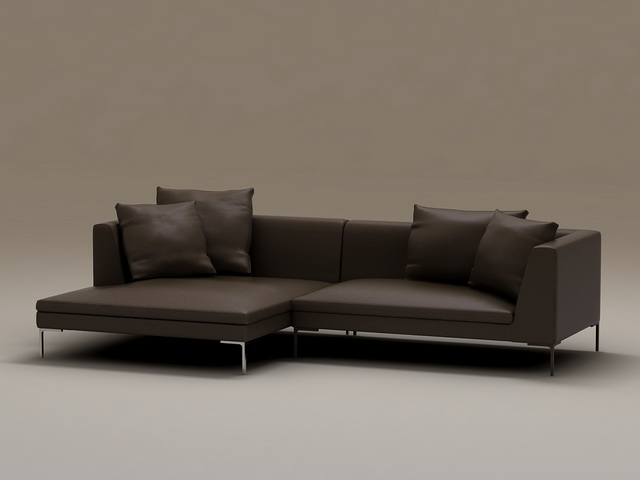 Black Fabric Sofa Set 3d Model 3dsmax Files Free Download