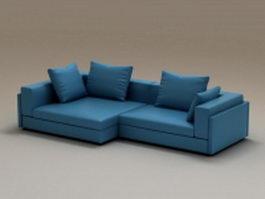 2 piece corner sofa 3d model