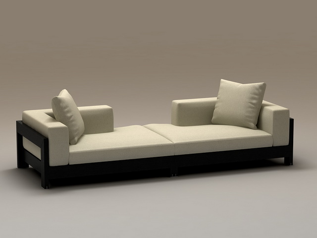 2 Piece Sectional Couch 3d Model 3dsmax Files Free