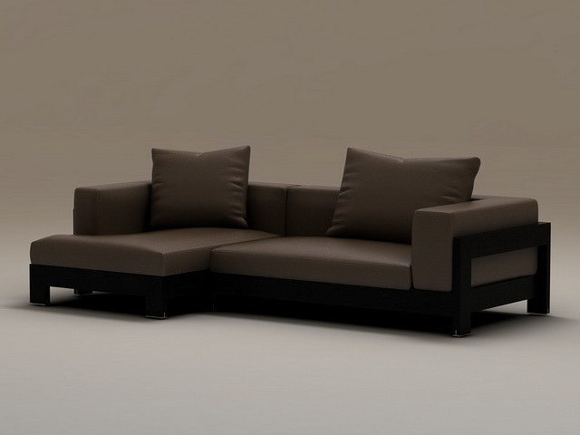 Wood Base Corner Sofa 3d Model 3dsmax Files Free Download