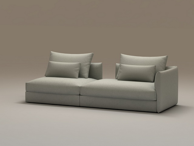 Modern Modular Sofa Sectional 3d Model 3dsmax Files Free