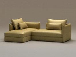 2 piece chaise sofa 3d model