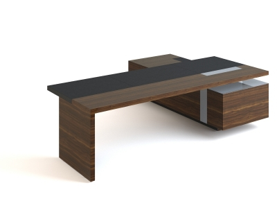 Modern office executive desk 3d model 3dsmax files free for Office table 3d design
