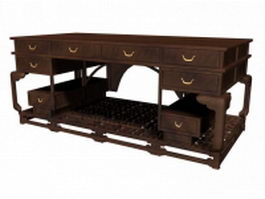 Chinese antique office desk 3d model