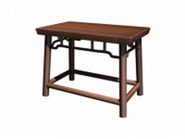 Antique wooden stool 3d model