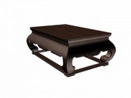 Japanese tea table 3d model