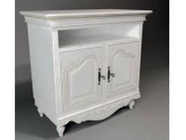 Classical wood TV stand 3d model
