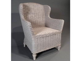 Rattan armchair 3d preview