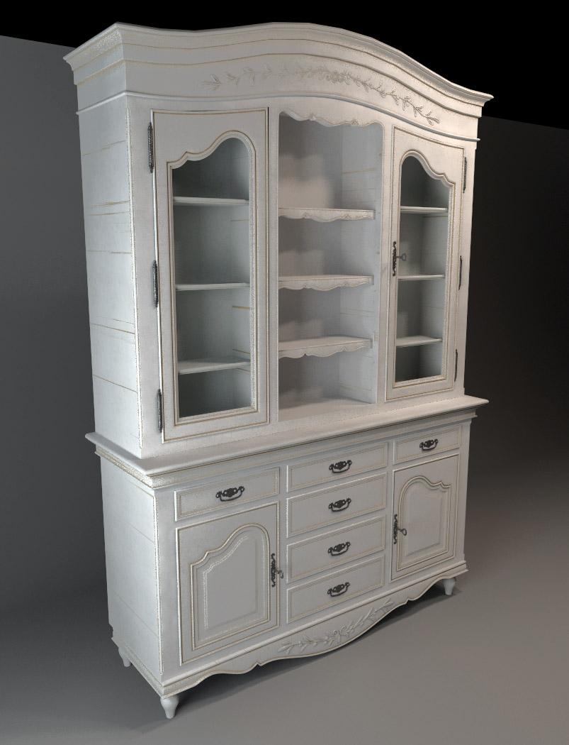 Exterior: Classic Cupboard Cabinet 3d Model 3dsmax Files Free