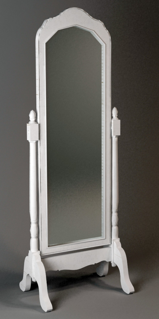 Antique style carved dressing mirror 3d model 3dsmax files for Mirror 3d model