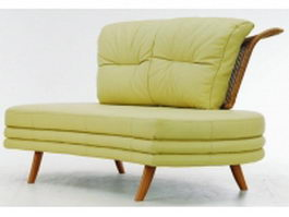 Upholstered bentwood settee 3d model