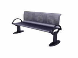 Waiting area chair waiting bench 3d model