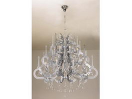 French style crystal chandelier 3d model