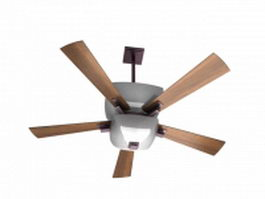 Ceiling fans with light 3d model
