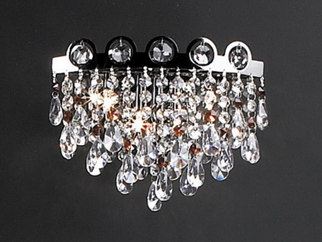 Crystal Chandelier Wall Lamp 3d Model 3dsmax Files Free Download