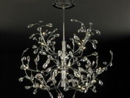 Vintage crystal chandelier 3d model
