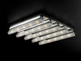 5 light tube ceiling lamp 3d model