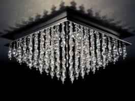 Ceiling crystal chandelier light 3d model