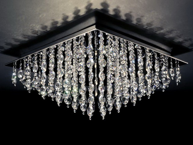Ceiling crystal chandelier light 3d model 3dsmax files free download ...