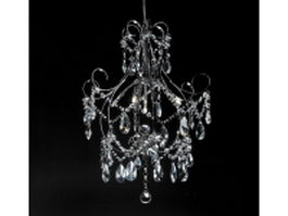 Small crystal chandelier lighting 3d model