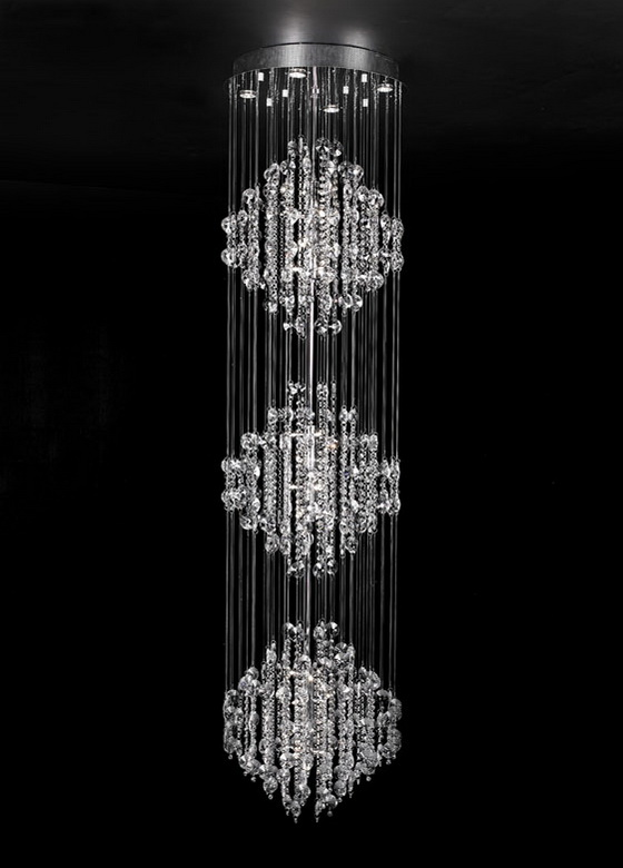 Raindrop crystal chandelier 3d model - CadNav