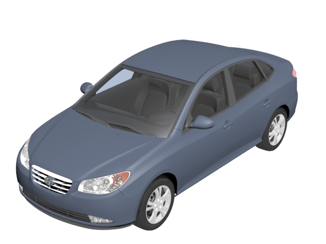 Hyundai Elantra Compact Car 3d Model 3dsmax Files Free Download