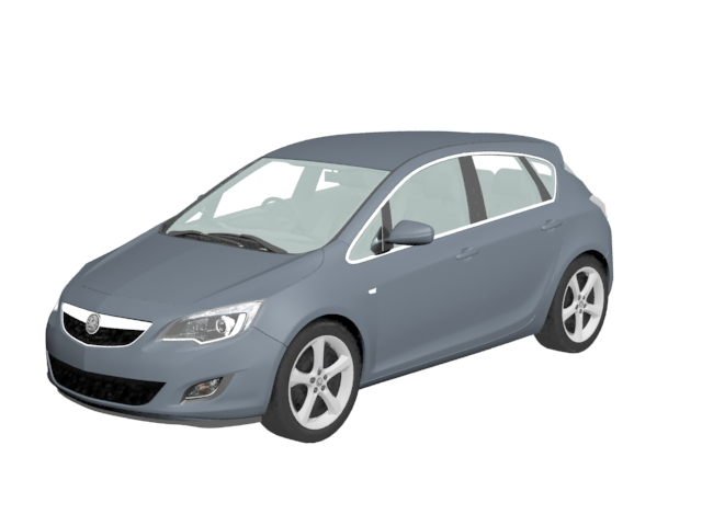 Opel Astra small family car 3d model 3dsmax files free download ...