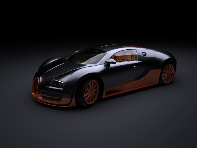 Bugatti Veyron Super Sports Car 3d Model
