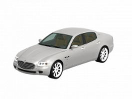 Maserati Quattroporte luxury car 3d preview