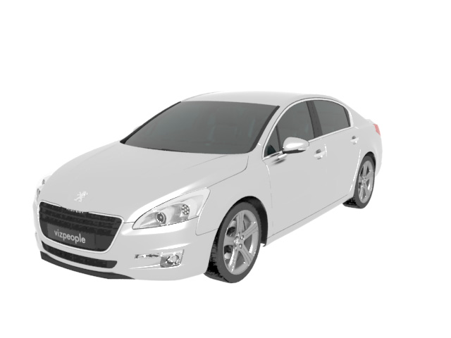 Peugeot 508 Sedan Car 3d Model 3dsmax Wavefront 3ds Files Free