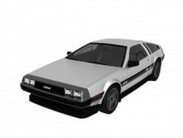DeLorean DMC-12 2-door coupe sports car 3d model