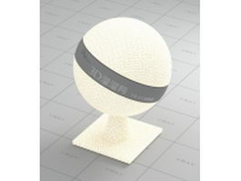 Cream-colored fabric with linear vray material