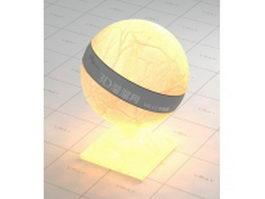 Light beige lambskin lampshade vray material