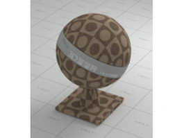 Plaid cloth brown wall fabric vray material