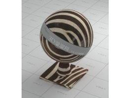 Zebra-stripe cloth vray material