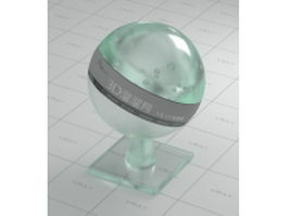 Green frosted glass vray material