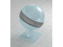 Light blue figured glass vray material