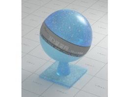 Aquamarine figured glass vray material