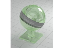 Green thick glass vray material