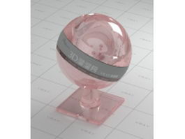 Pink smooth glass vray material